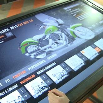Touchscreen at Harley Davidson