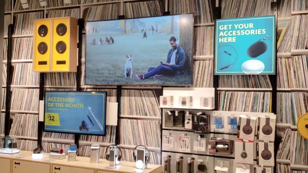 Fido Wireless's signage throughout the store displays promotions, product features, and more.