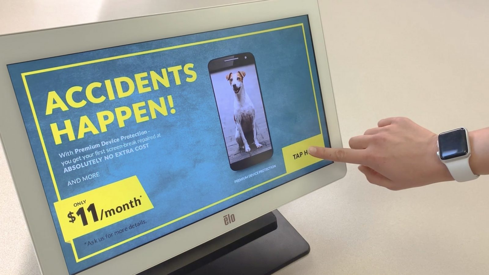 Fido Wireless's interactives throughout the store displays promotions, product features, and more.