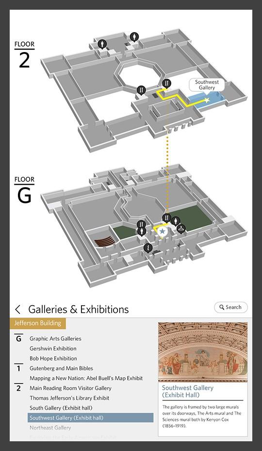 Library of Congress way-finder screenshot