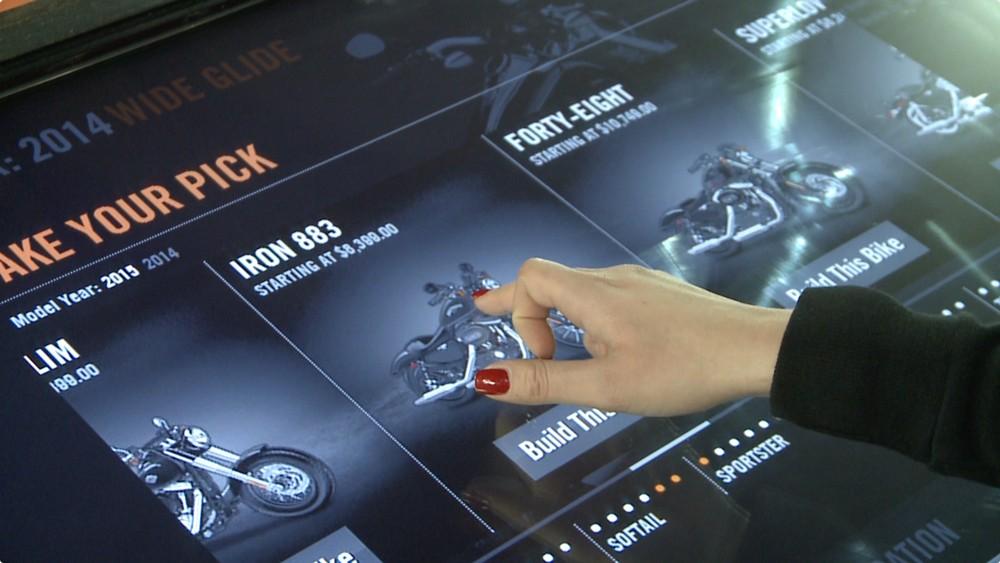 Harley Davidson's interactive bike builder