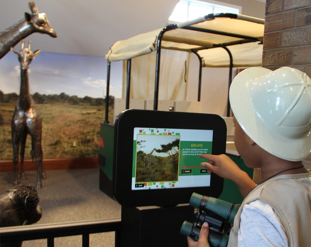 The Magic House's AR game allows children to learn about Kenyan animals.