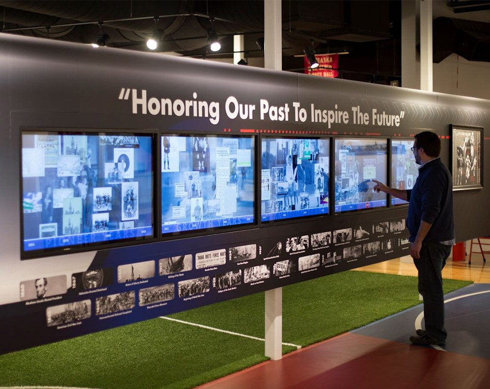 Nanonation's Timeline product allows visitors to explore an organization's history.