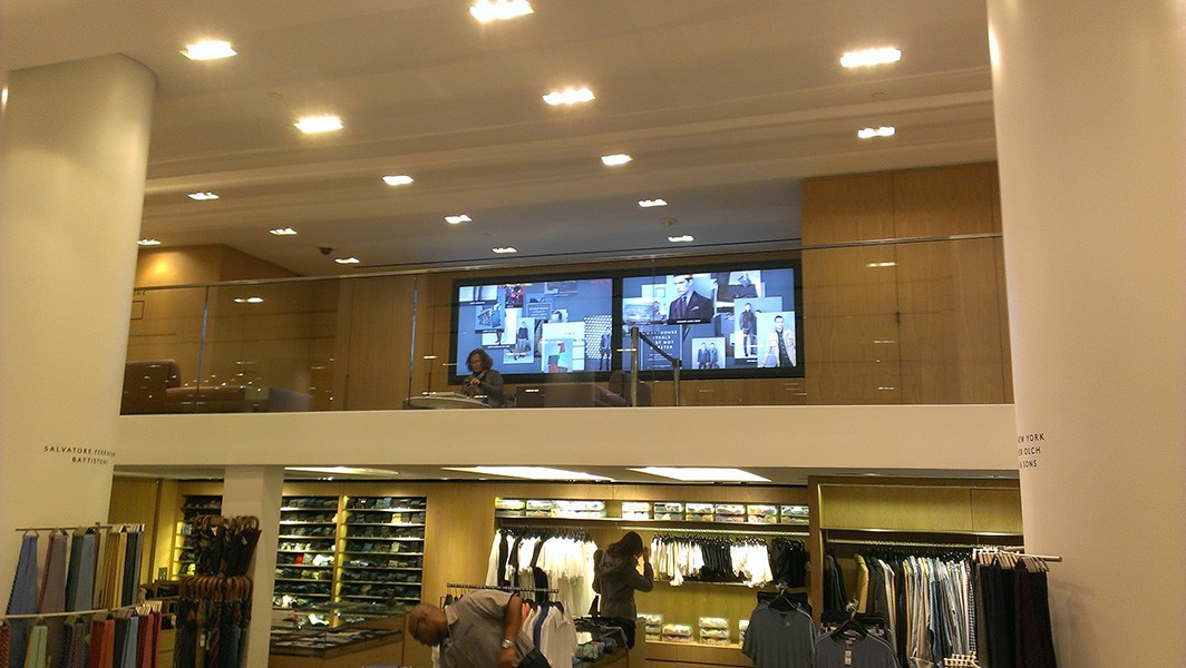 Digital Signage in a retail store.