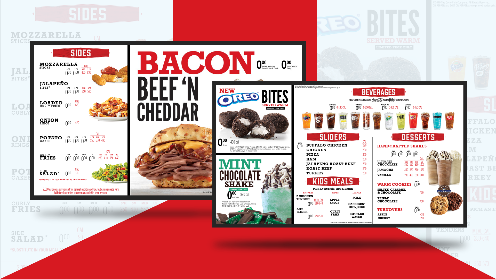 Screenshot of Arby's digital menu boards