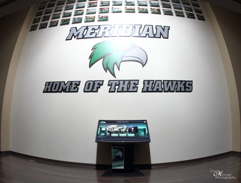 Meridian High Schools Digital Trophy Case Kiosk