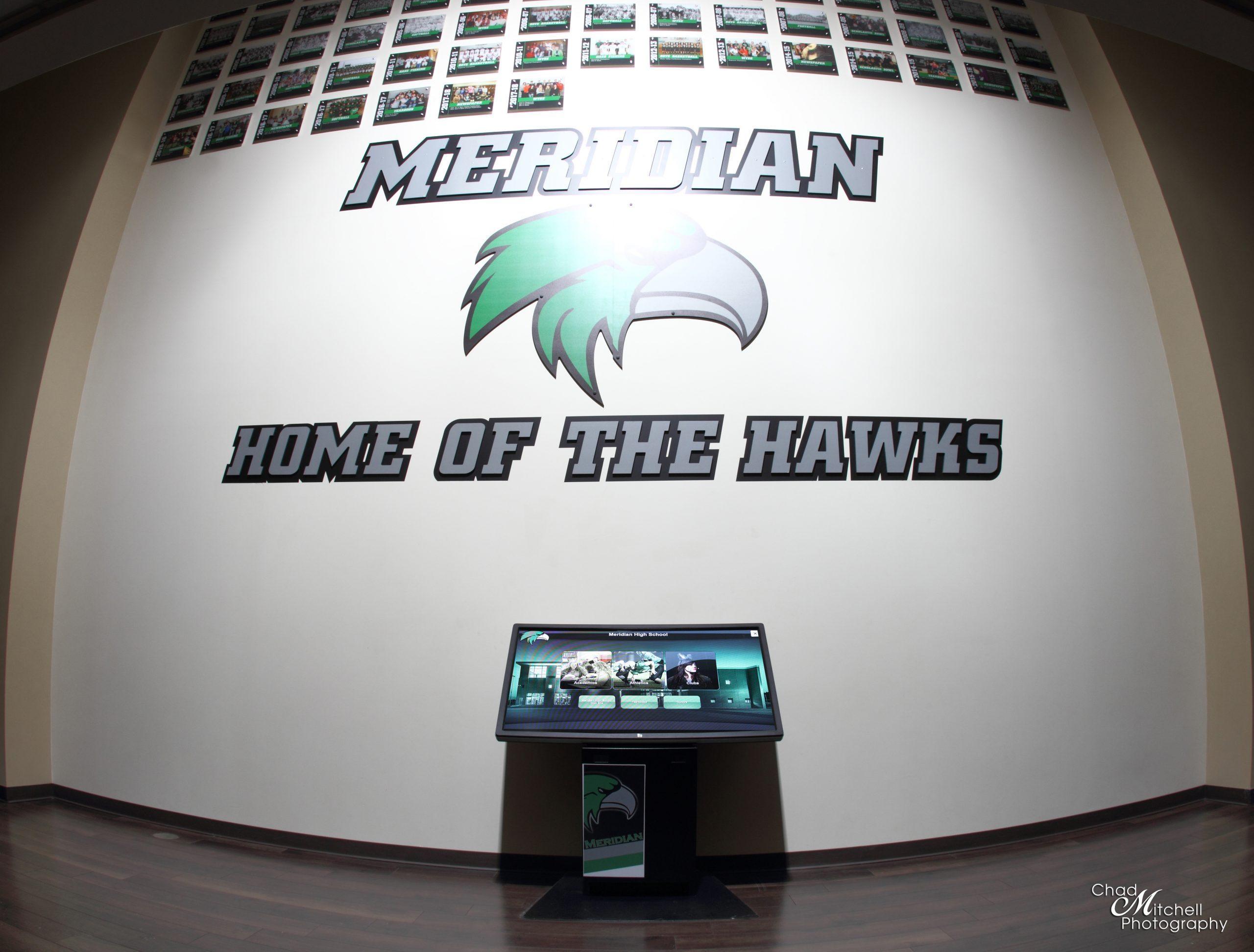 Meridian High Schools Digital Trophy Case Kiosk