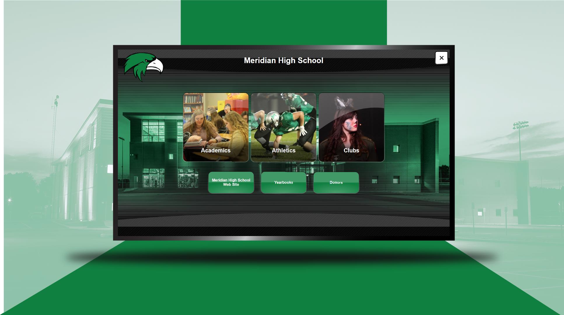 Meridian High School Digital Trophy Case screenshot