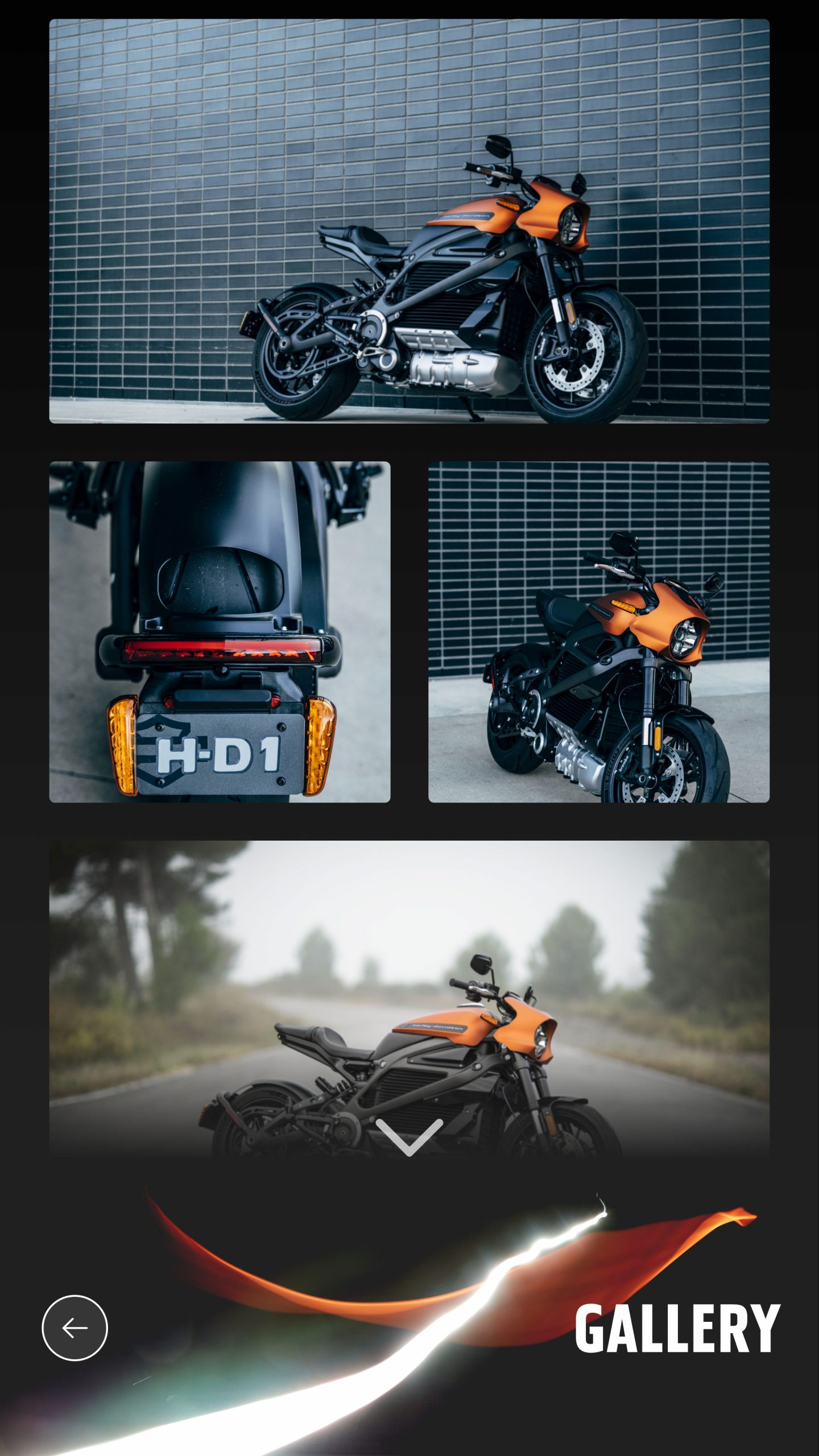 Harley-Davidson Gallery View screenshot