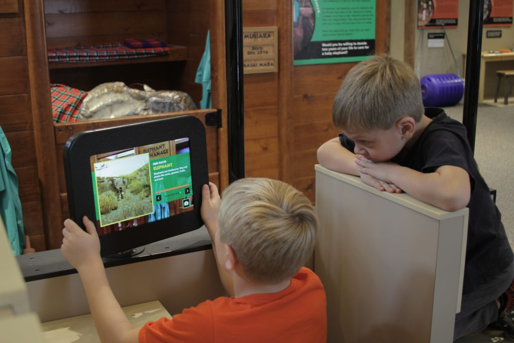An educational experience at the Magic House Museum used to teach kids about Kenyan animals.