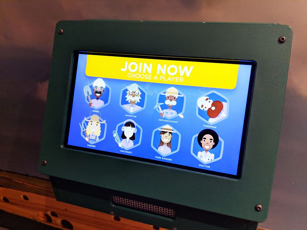 Kirby Science Discovery Center tablet for playing the South Dakota quiz game