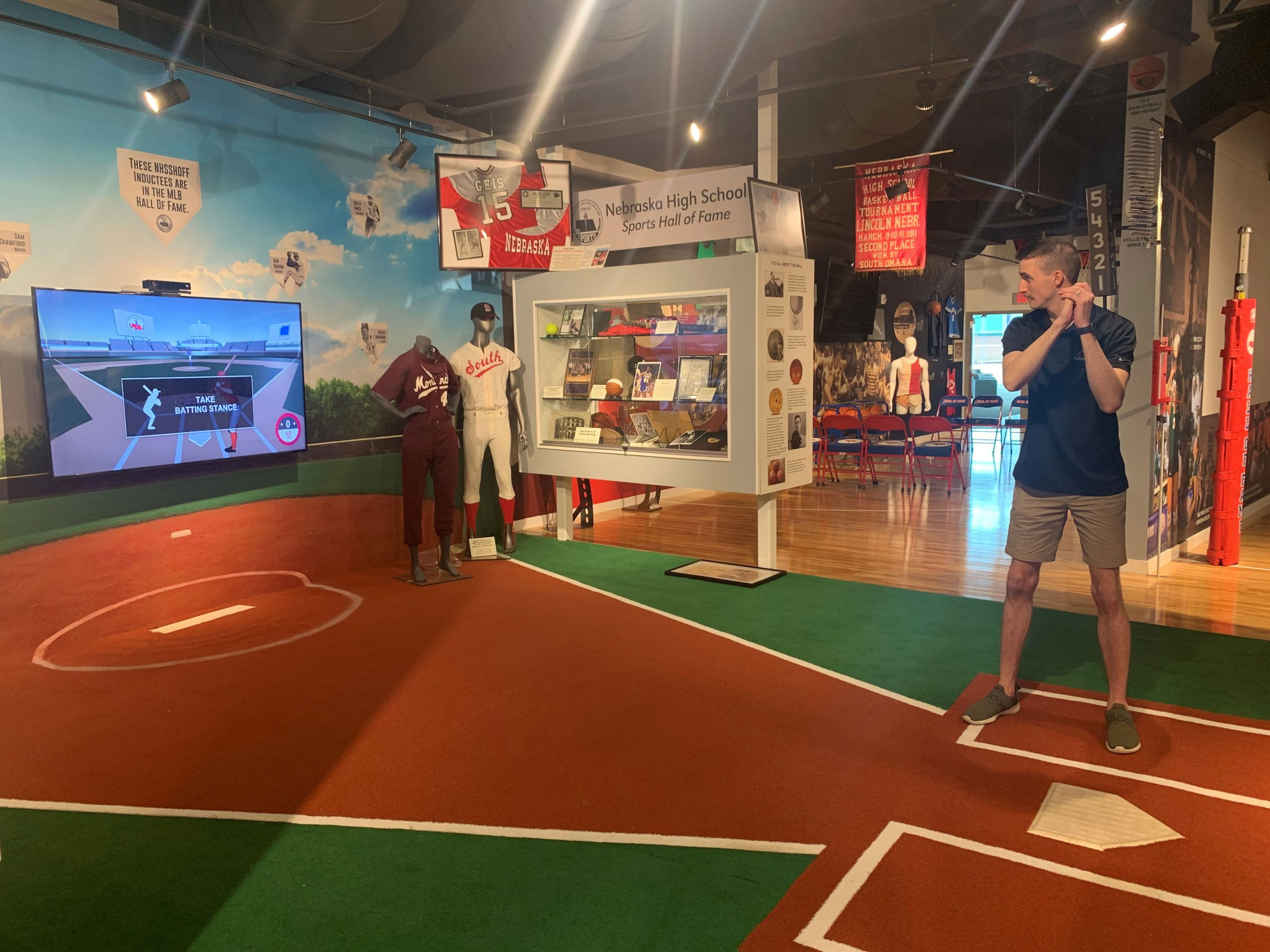 Interactive Baseball Game with Man Playing