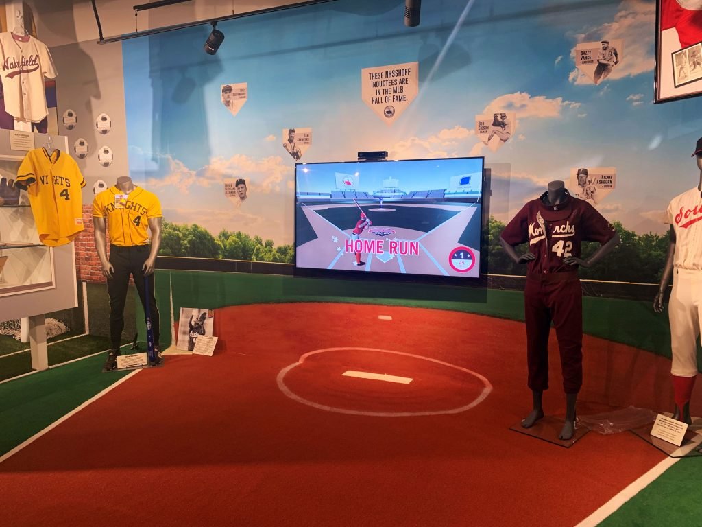 Interactive Baseball Game in the baseball exhibit at the Nebraska High School Sports Hall of Fame