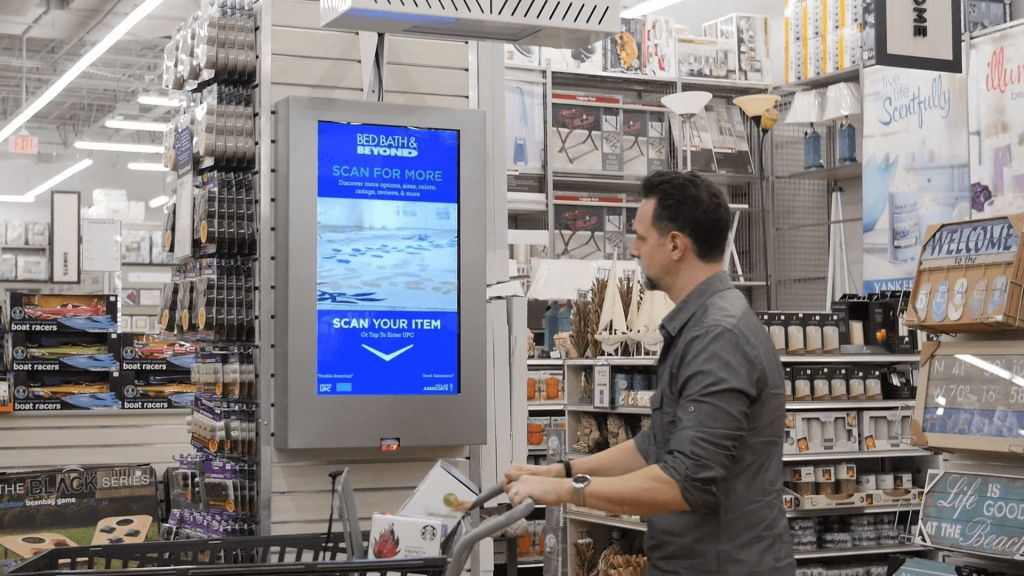 Bed Bath & Beyond kiosk in retail store