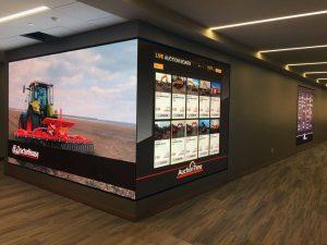 Large digital signage display in Sandhills headquarters