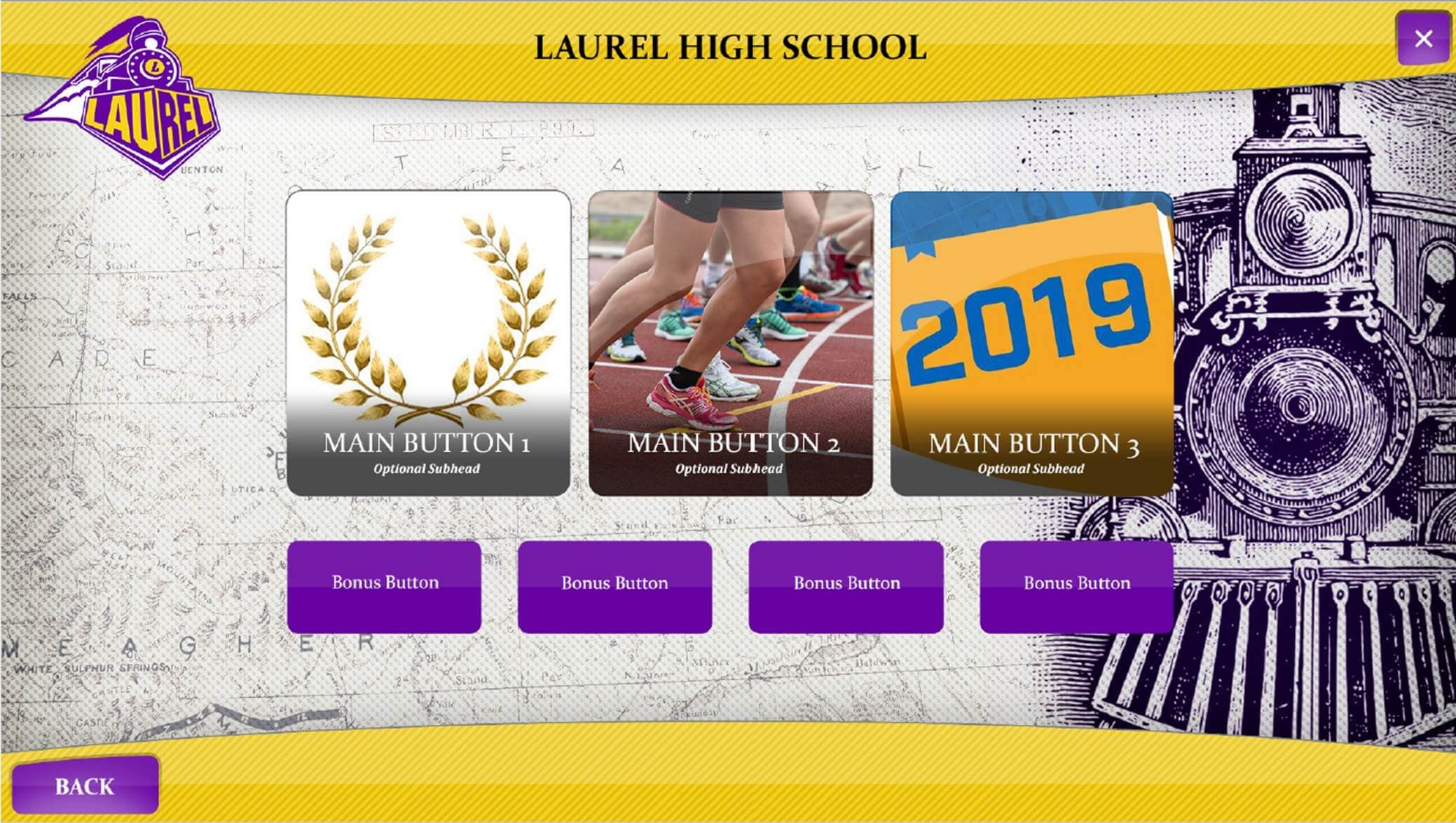 Laurel High School interactive digital signage example