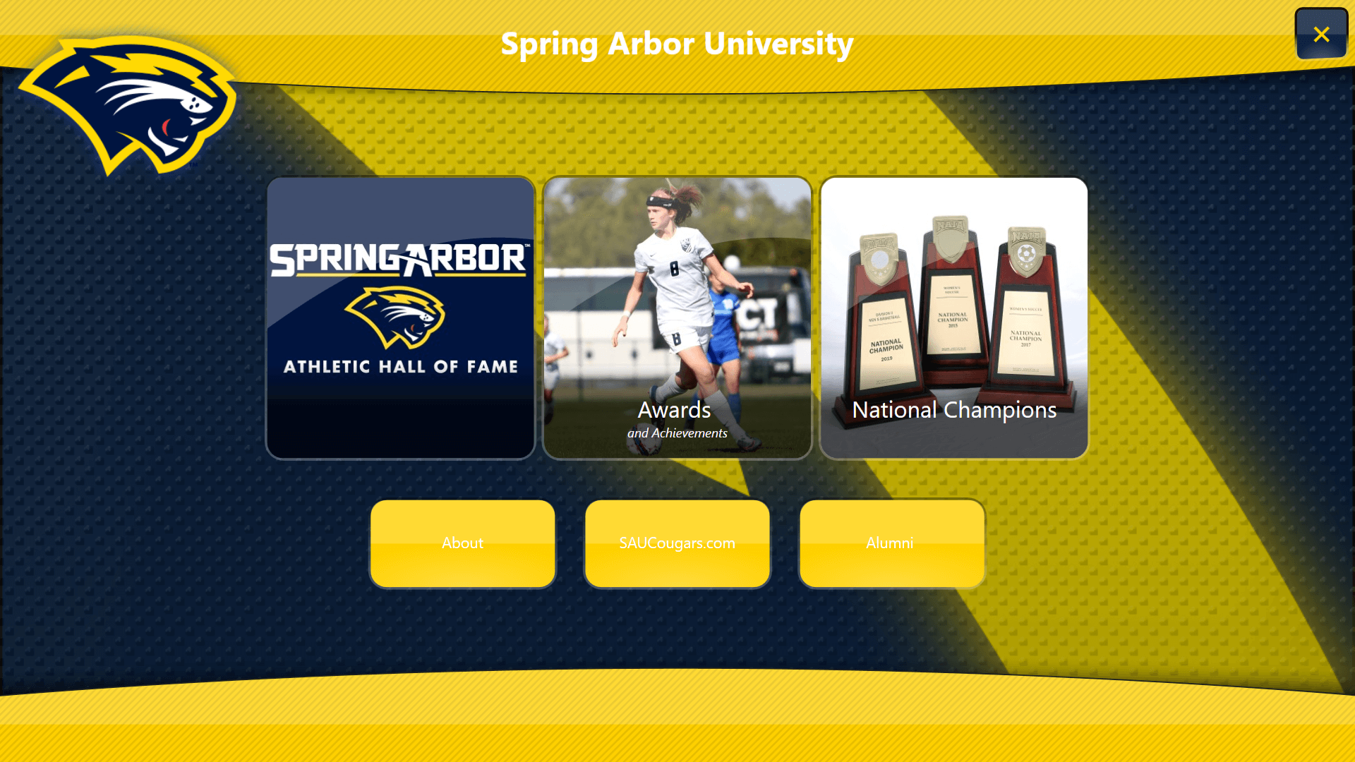 Spring Arbor University digital signage example