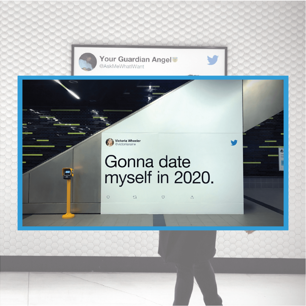 Digital signage example for twitter