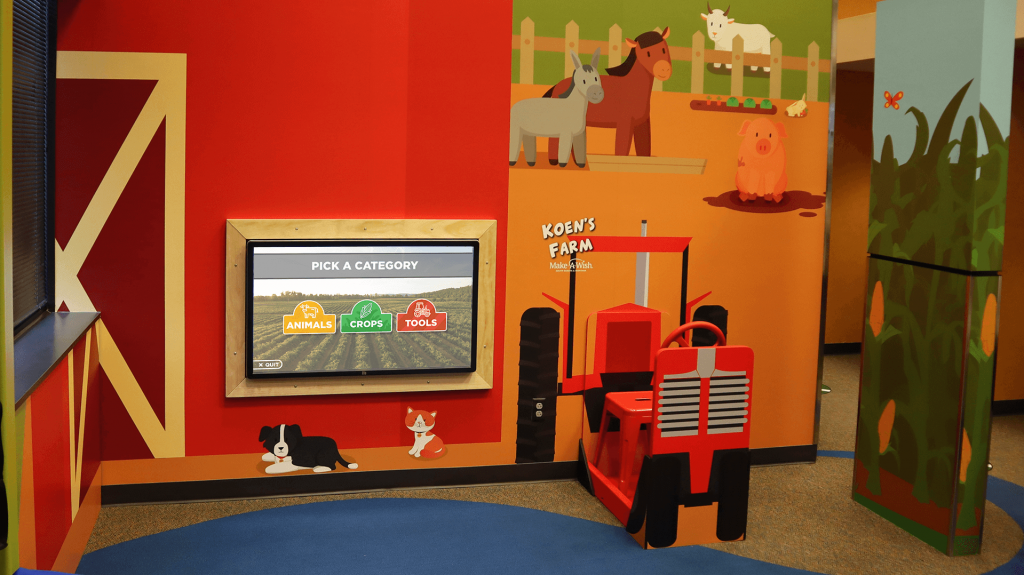 Koen's Farm at Avera Health keeps children entertained while waiting for their appointments.